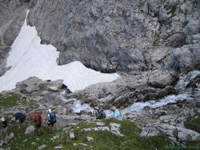 Abstieg von der Coburger Hütte