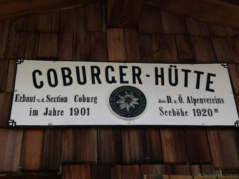 Schild Coburger Hütte